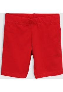 Bermuda Malwee Kids Infantil Lisa Vermelha
