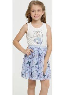 Vestido Infantil Estampa Frozen Sem Manga Disney