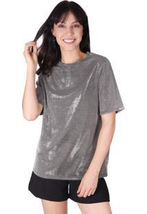 Camiseta Superfluous Brilho Prata - Tricae