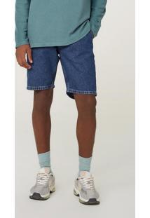 Bermuda Jeans Masculina Tradicional De Algodão