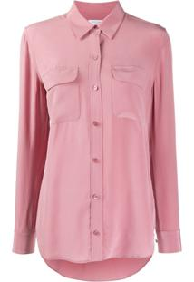 Equipment Camisa Com Bolso - Rosa