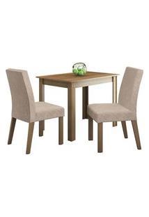 Conjunto Sala De Jantar Madesa Vic Mesa Tampo De Madeira Com 2 Cadeiras Rustic/Imperial Rustic