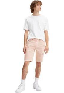 Bermuda Jeans Levis 511 Slim Cutoff - Masculino-Rosa