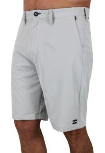 Bermuda Boardwalk Billabong Crossfire X Silver - Masculino