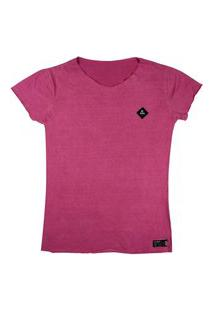 T-Shirt Wss Estonada Diamond Chiclete Feminina