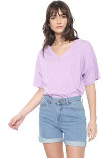 Camiseta Colcci Básica Lilás