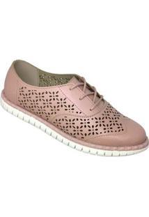 Sapato Moleca Oxford Napa Turim Feminino - Feminino-Rosa