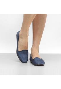 Slipper Moleca Jeans Feminino - Feminino-Jeans