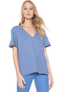 Camiseta Colcci Básica Azul