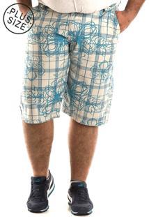 Bermuda Konciny Sarja Plus Size Bege