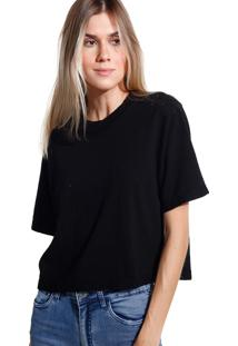 Camiseta John John Basic Black Malha Preto Feminina (Preto, M)