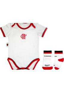 Kit Body Reve D Or Sport Vivos Com Meia Flamengo Branca 9247fc171c42c