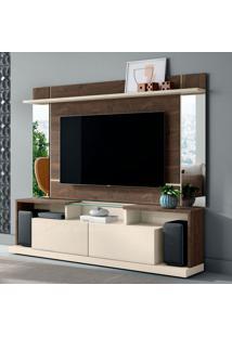 Rack Com Painel Para Tv Até 65 Polegadas Malibu Madero E Off White 200 Cm