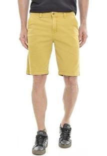 Bermuda Get Fashion Dialogo Jeans Slim Color Masculina - Masculino-Caramelo