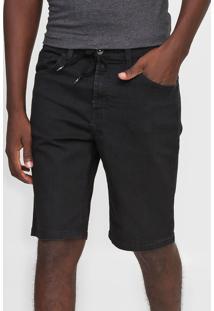 Bermuda Jeans Quiksilver Slim Skate Black Preta - Preto - Masculino - Dafiti