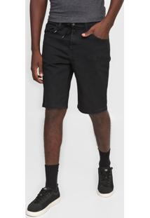 Bermuda Jeans Quiksilver Slim Skate Black Preta
