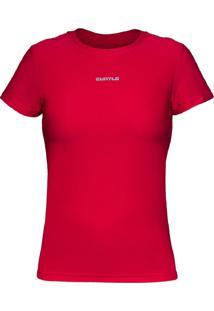 Camiseta Curto Active Fresh Mc – Vermelho Gg - Kanui