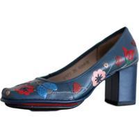 2d2efedba Dafiti. Sapato Feminino J. Gean Em Couro Vintage Retrô Salto Grosso ...