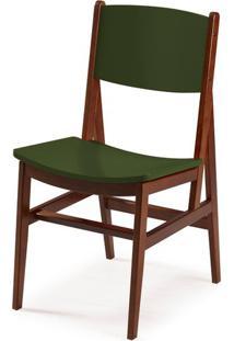 Cadeira Dumon Cor Cacau Com Verde Escuro - 30796 Sun House