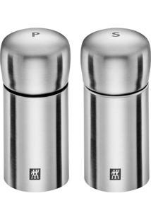 Mini Moedor De Sal E Pimenta De Aço Inox Zwilling 2 Peças - 26520