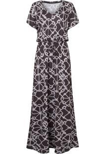 Vestido Longo Corda - Preto