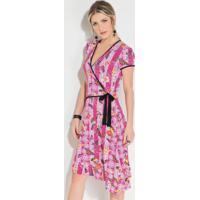 8703bfdb9b Vestido Borboleta Rosa feminino