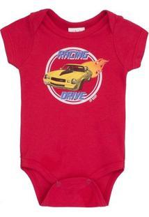 Body Masculino Up Baby Carro Vermelho - Masculino-Vermelho
