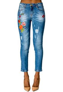 Calça Jeans Com Bordado Alphorria