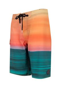 Bermuda O'Neill Boardshort 8720A - Masculina - Verde/Laranja