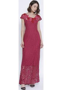 Vestido Em Renda - Vermelho - Silk Lordsilk Lord
