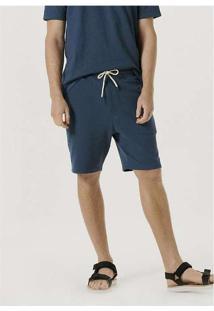Bermuda Masculina Em Moletom Texturizado Azul