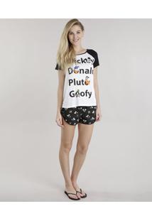 Pijama Turma Do Mickey Branco
