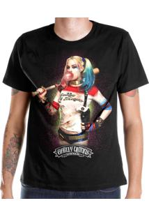 81f96f75f4 Camiseta Dc Comics Bandup! Esquadrão Suicida Harley Quinn Bubble Gum -  Masculino-Preto