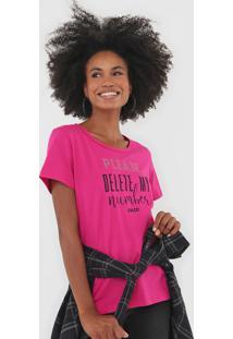 Camiseta Colcci Aplicaã§Ã£O Lettering Rosa - Rosa - Feminino - Algodã£O - Dafiti