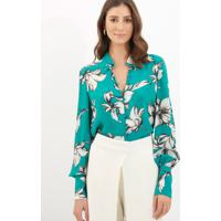 Camisa Le Lis Blanc Ayla Seda Estampado Feminina eb55564ec5842