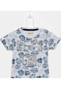 Camiseta Infantil Milon Let'S Go Manga Curta Masculina - Masculino-Mescla