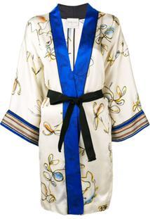 Forte Forte Floral Print Kimono Jacket - Neutro