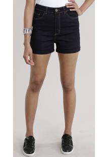 b7edee19bd28 Short Jeans Hot Pant Com Algodão + Sustentável Azul Escuro