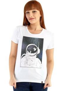Baby Look Ouroboros Manga Curta O Astrolnalta - Feminino-Branco
