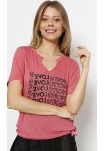 """Camiseta """"Revolution""""- Coral & Pretaspezzato"""