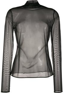 Wolford Tulle Pullover Tulle Top - Preto