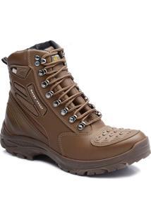 Bota Tatico Militar 100% Impermeavel Gogowear 100% Couro Ref Roadstar Cor Amendoa - Kanui
