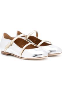 Malone Souliers Kids Maureen Pump Smalls Ballerina Shoes - Prateado