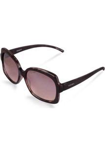 Óculos De Sol Quadrado Em Acetato Tigrado Marrom