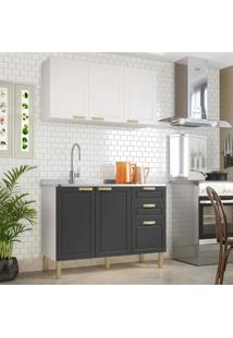 Cozinha Completa 2 Peças Americana Multimóveis 5923 Branco/Grafite