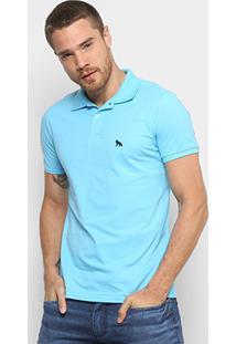 439aaa810a6a8 Camisa Polo Acostamento Bordado Masculina - Masculino-Azul Claro