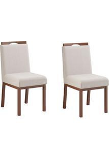 Conjunto Com 2 Cadeiras Sofia Castanho E Off White