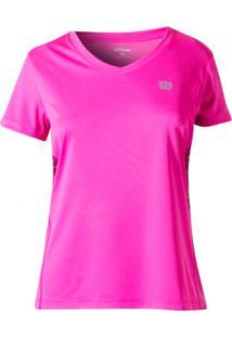 Camiseta Wilson Tour Ss Infantil - Rosa