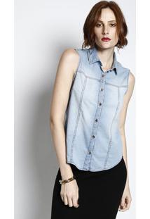 cff15c1d57f6 Camisa Jeans Com Botões - Azul Claro - Cativacativa