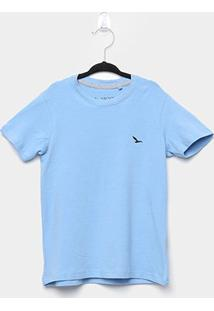 Camiseta Infantil Yachtmaster Básica Masculina - Masculino-Azul Claro